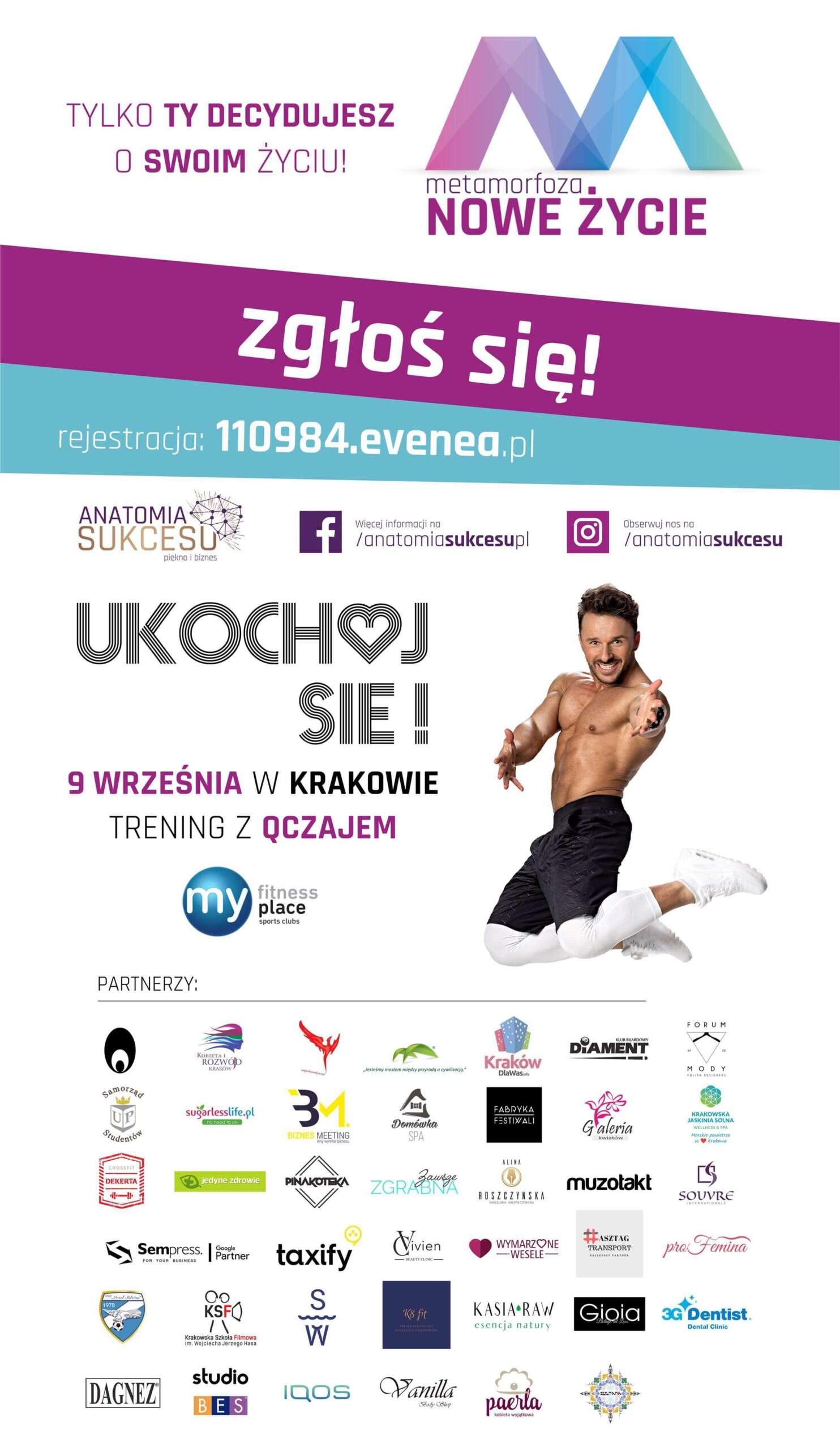 Ukochoj się! Trening z Qczajem po raz pierwszy w Krakowie